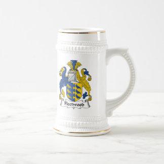 Escudo de la familia de Fleetwood Jarra De Cerveza
