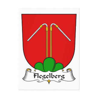 Escudo de la familia de Flegelberg Impresiones En Lona