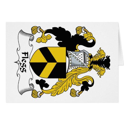 Escudo de la familia de Flegg Tarjeta De Felicitación