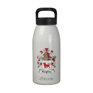 Escudo de la familia de Fleisher Botella De Agua Reutilizable
