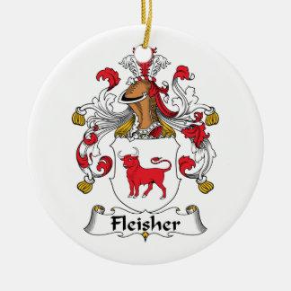 Escudo de la familia de Fleisher Adornos De Navidad