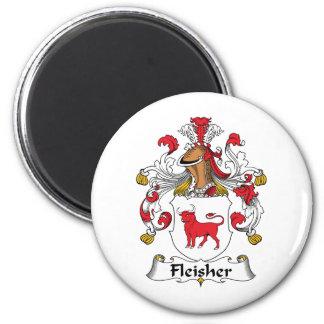 Escudo de la familia de Fleisher Imán Redondo 5 Cm