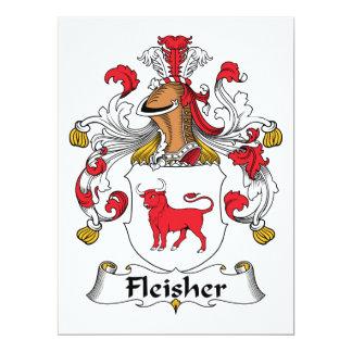 """Escudo de la familia de Fleisher Invitación 6.5"""" X 8.75"""""""