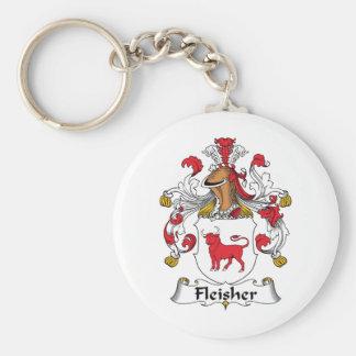 Escudo de la familia de Fleisher Llavero Redondo Tipo Pin