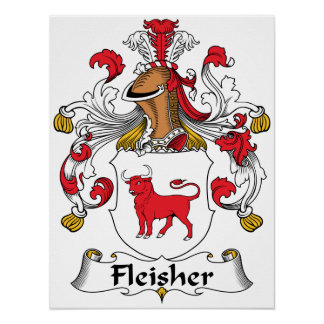 Escudo de la familia de Fleisher Impresiones