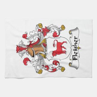 Escudo de la familia de Fleisher Toallas De Cocina