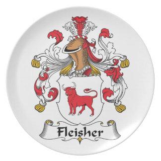 Escudo de la familia de Fleisher Plato Para Fiesta