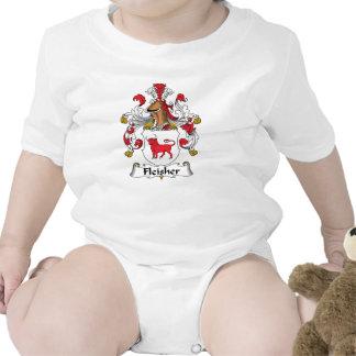 Escudo de la familia de Fleisher Traje De Bebé