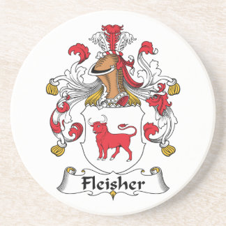 Escudo de la familia de Fleisher Posavasos Para Bebidas