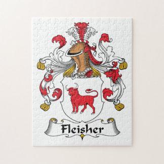 Escudo de la familia de Fleisher Rompecabezas Con Fotos