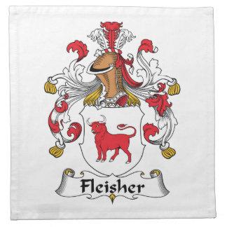 Escudo de la familia de Fleisher Servilletas Imprimidas