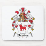 Escudo de la familia de Fleisher Alfombrillas De Raton