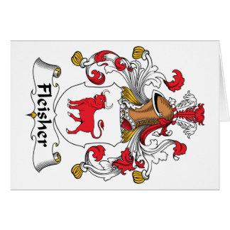 Escudo de la familia de Fleisher Tarjeta De Felicitación