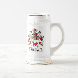 Escudo de la familia de Fleisher Taza De Café