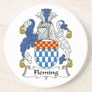 Escudo de la familia de Fleming Posavasos Cerveza