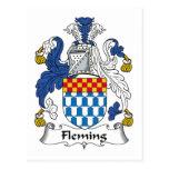 Escudo de la familia de Fleming Postal