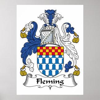 Escudo de la familia de Fleming Póster