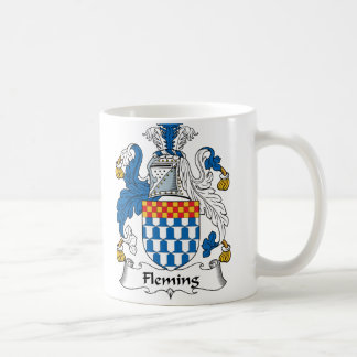 Escudo de la familia de Fleming Tazas De Café