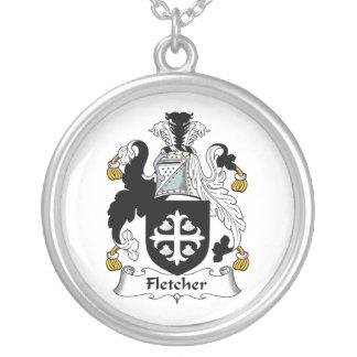 Escudo de la familia de Fletcher Colgante Redondo