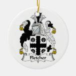 Escudo de la familia de Fletcher Ornamento Para Arbol De Navidad