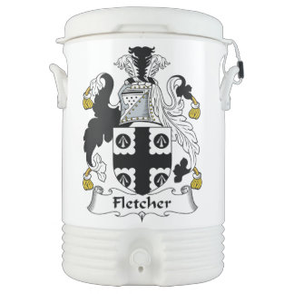 Escudo de la familia de Fletcher Vaso Enfriador Igloo