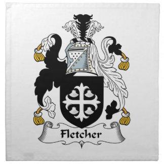 Escudo de la familia de Fletcher Servilletas