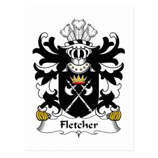 Escudo de la familia de Fletcher Postales