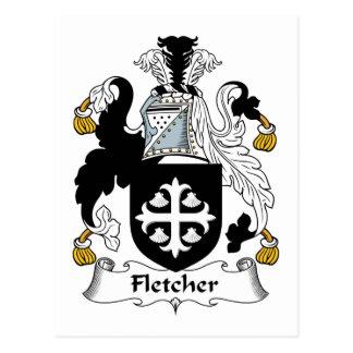 Escudo de la familia de Fletcher Tarjetas Postales