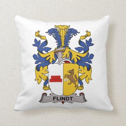 Escudo de la familia de Flindt Almohadas