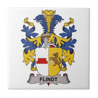 Escudo de la familia de Flindt Azulejo Cuadrado Pequeño