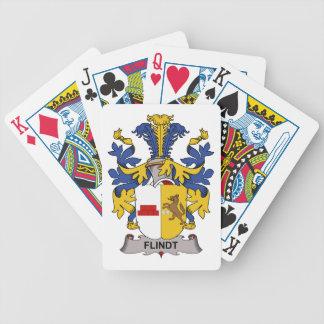 Escudo de la familia de Flindt Baraja Cartas De Poker