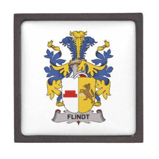 Escudo de la familia de Flindt Cajas De Recuerdo De Calidad