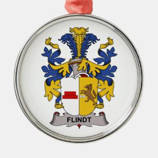 Escudo de la familia de Flindt Adorno Redondo Plateado