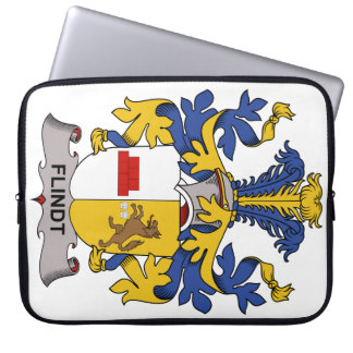 Escudo de la familia de Flindt Fundas Computadoras