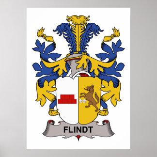 Escudo de la familia de Flindt Póster