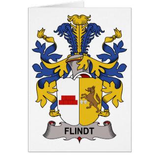 Escudo de la familia de Flindt Tarjeta De Felicitación
