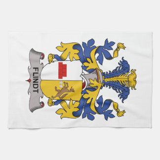 Escudo de la familia de Flindt Toalla