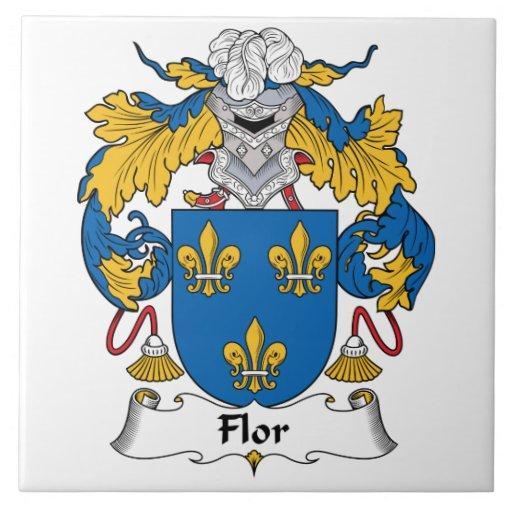Escudo de la familia de Flor Azulejo
