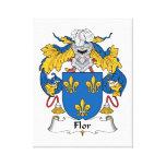 Escudo de la familia de Flor Lona Envuelta Para Galerías