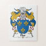 Escudo de la familia de Flor Rompecabezas Con Fotos