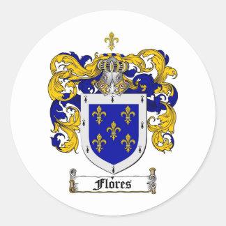 ESCUDO DE LA FAMILIA DE FLORES - ESCUDO DE ARMAS D ETIQUETA