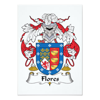 """Escudo de la familia de Flores Invitación 5"""" X 7"""""""
