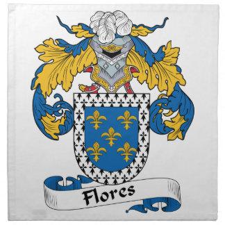 Escudo de la familia de Flores Servilletas De Papel