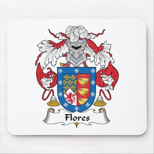 Escudo de la familia de Flores Alfombrillas De Ratón