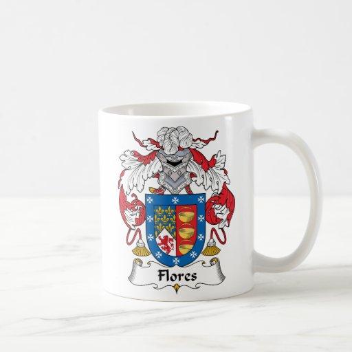 Escudo de la familia de Flores Tazas De Café