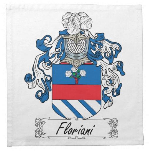 Escudo de la familia de Floriani Servilletas Imprimidas