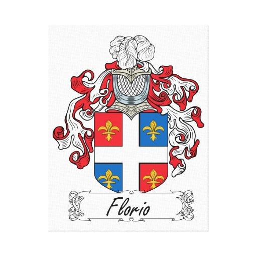 Escudo de la familia de Florio Lona Envuelta Para Galerías