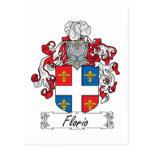 Escudo de la familia de Florio Tarjeta Postal