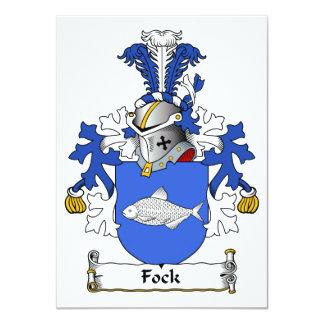 """Escudo de la familia de Fock Invitación 4.5"""" X 6.25"""""""