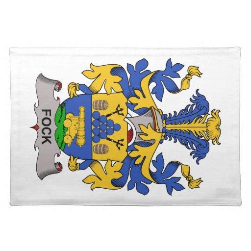 Escudo de la familia de Fock Mantel Individual